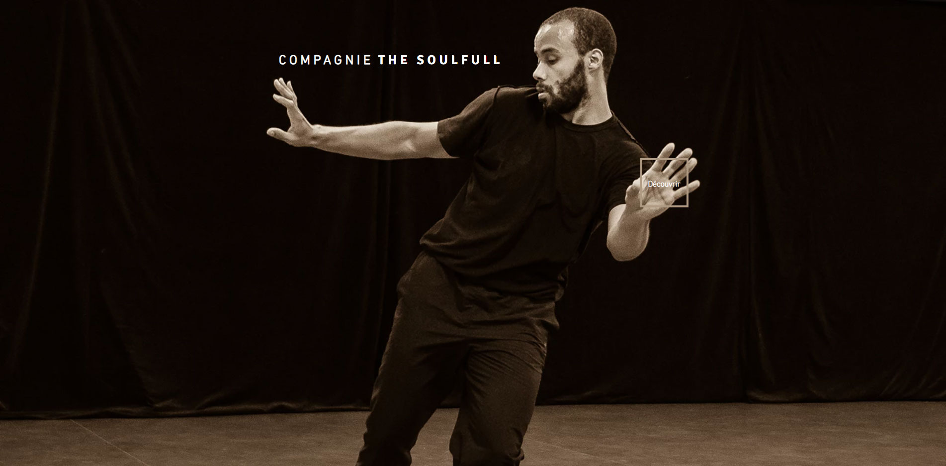 Page d'accueil site web Compagnie The Soulfull