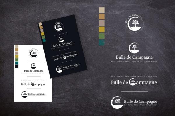 logo, Identité visuelle Bulle de Campagne
